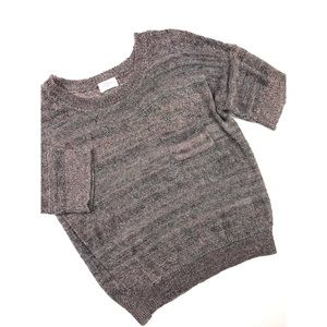 {Madewell} Metallic Meshwork Sweater